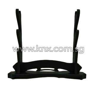 In Stock – MIS 0006 – Three Tier Premium Wooden Sword Display Stand