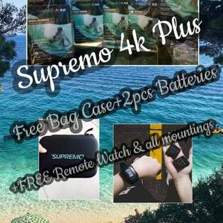 "Supremo 4k plus latest action camera with FREE BAG CASE WORTH 450PHP ""Order now"""