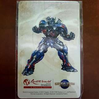 Adult Ezlink Card - Optimus Prime (Resorts World Sentosa)