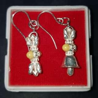 卍Buddha relic earrings Thai Dzi relics