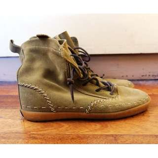 Keds Moss Green Suede Boots