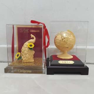 999 Gold plated figure