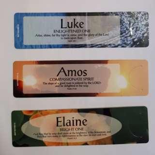 Name Book Mark (Luke, Amos, Elaine, Ian, Eugene)