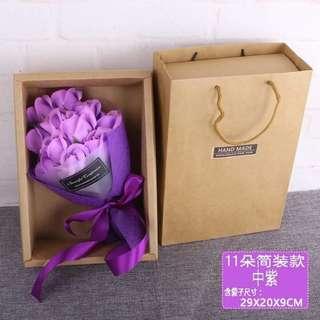 (*n_n*)(●͜ ●*)11朵香皂玫瑰花束包礼盒 (Soap flower with box)