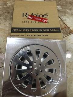 Rubine stainless steel floor drain