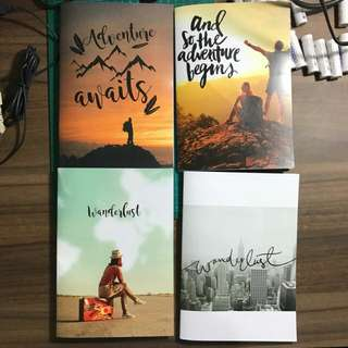 Notebooks with Motivational Cover Art