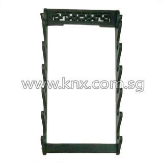 In Stock – MIS 0058 – Six Tier Premium Wooden Wall Mounted Sword Display Rack