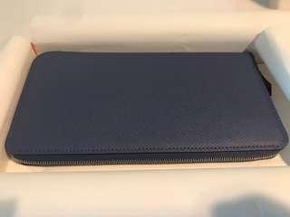 hermes long wallet blue brighton