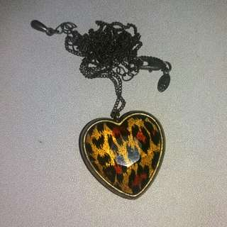 Mark & Spencer Heart Leopard Necklace