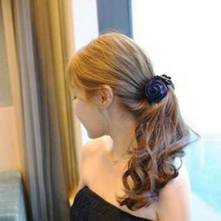 Jepit rambut rose navy blue