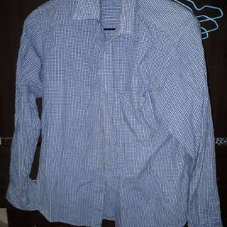 藍色小格襯衫