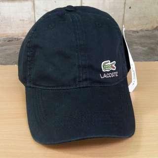 Topi Lacoste Black Import Premium BNWT