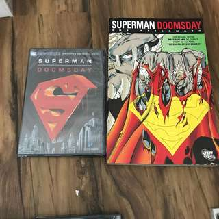 Superman Doomsday comic and dvd bundle