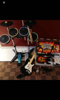 PS3 Rock Band and Guitar Hero instruments and gsmes