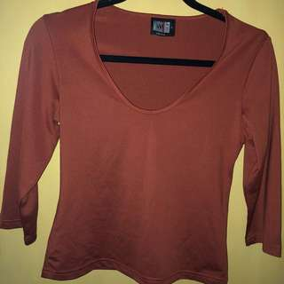 REPRICED! Brown Top Miss Shop