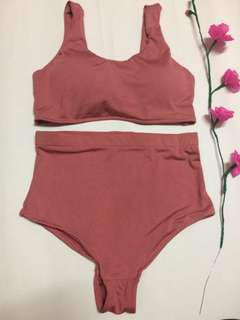 on hand Bikini/old rose two piece