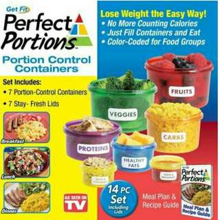 PERFECT PORTIONS DIET CONTROL FOOD STORAGE