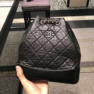 Chanel Brand New Gabrielle black backpack