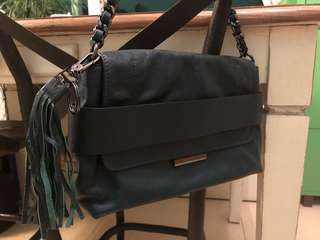Penny Black leather bag 100%羊皮