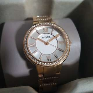 Fossil Ladies Watch in rose gold. Model number es3284