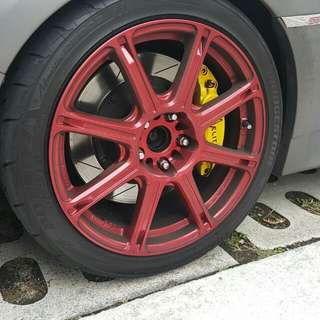 6 pot caliper BBK big brake kit