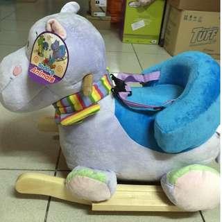Soft Rocking Animal Ride on Plush with seat belt
