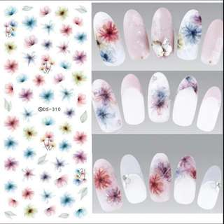 Gelfavor New 3D stereoscopic Nail Stickers Dried Flower water decals nail sticker lace for needlework Diy nail art decorations