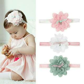 Set A-Baby Hairband / Lace Flower