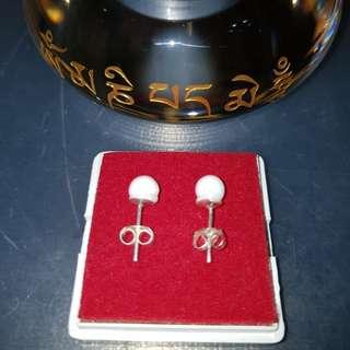 卍Buddha relic earrings Thai Dzi, relics