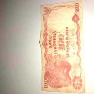 Uang lama Rp.100,-