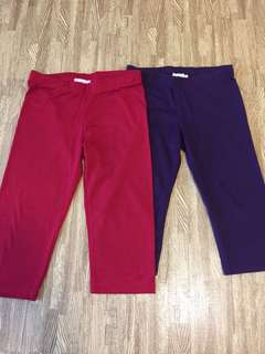 Girl's Seed leggings (purple & red set)