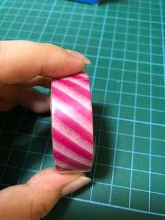 Washi tape (pink stripes)