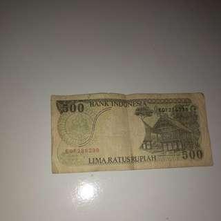 Uang 500 rupiah