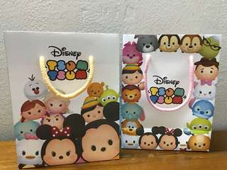 Hong Kong CHOW TAI FOOK Tsum Tsum paper bag🛍香港周大福Disney Tsum Tsum 精美礼袋🎁