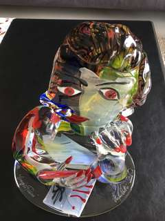 Picasso Glass Sculpture by Furlan Walter