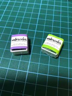 Prima Watercolor confections (06 green & 09 purple)