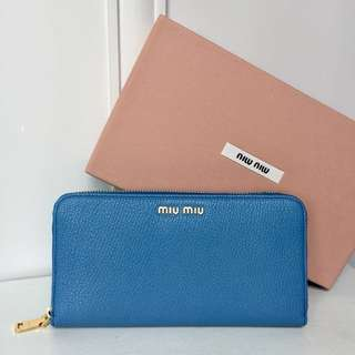MIU MIU Long Zip Around Purse (Mare)