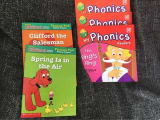Phonics Books, Clifford books, little readers books
