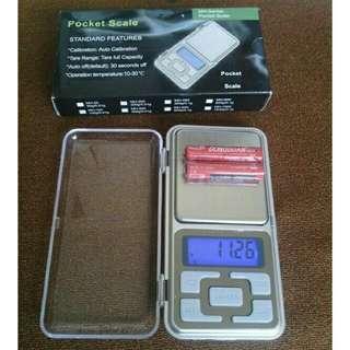Timbangan digital (Pocket Scale) kapasitas 500gr dengan akurasi 0.1gram