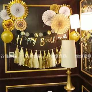 Ready Stock Birthday Party Decoration Set生日派对装饰套装