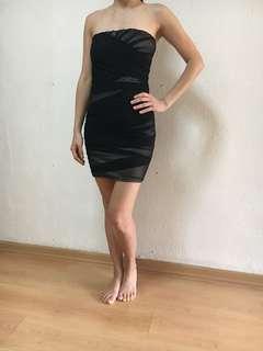 Black Tube Bodycon Dress with free white dress