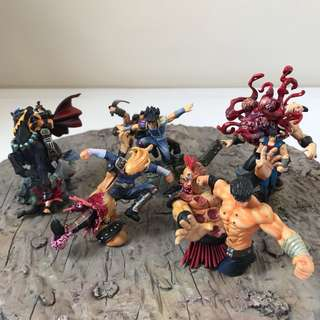 High Gory Details! Lot of Fist of the North Star Gashapons