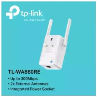 TP-LINK - TL-WA860RE, 300Mbps Wi-Fi Range Extender with AC Passthrough