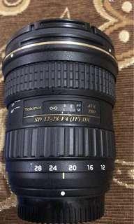 Tokina 12-28mm f4 wide angle lens