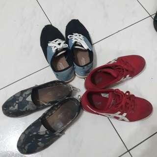 女休閒鞋三雙