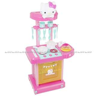 Sanrio HELLO KITTY《electronic cook n' go kitchen》扮家家酒廚房玩具組