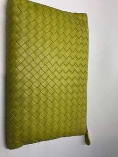 Bottega Veneta 織皮手拿包 全新購自巴黎保證真品