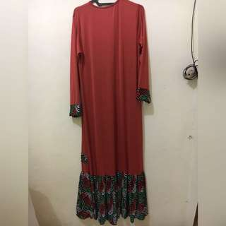 Long Dress Brown Cokelat