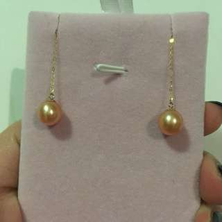 Freshwater Pearl Ear Line with 14K Gold
