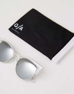 Quay Australia Avalon Cat Eye Sunglasses in clear
